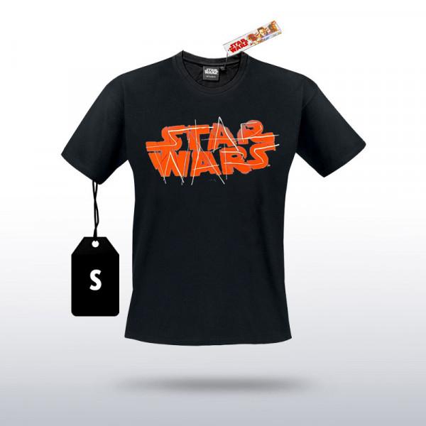Star Wars - T-Shirt STAR WARS Schriftzug (Größe S)